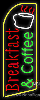 Red Breakfast And Green Coffee Neon Sign