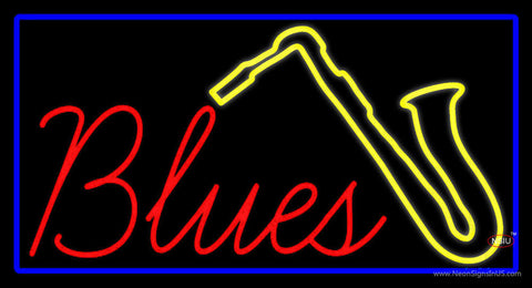 Red Blues Yellow Saxophone Neon Sign