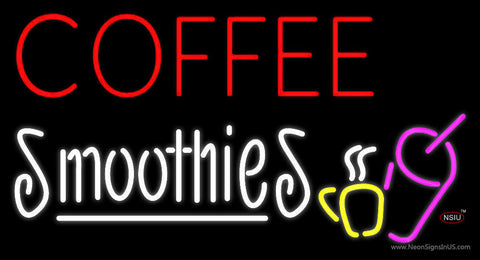 Red Coffee Smoothies Neon Sign