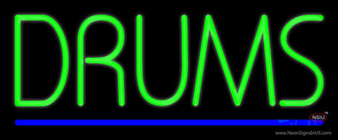 Drums Blue Line Neon Sign