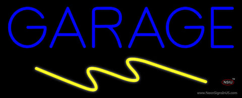 Blue Garage Neon Sign