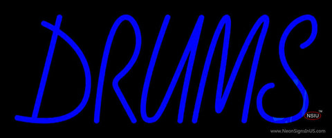 Drums Block  Neon Sign