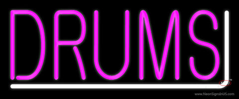 Pink Drums  Neon Sign