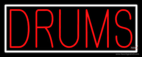 Red Drums Block  Neon Sign