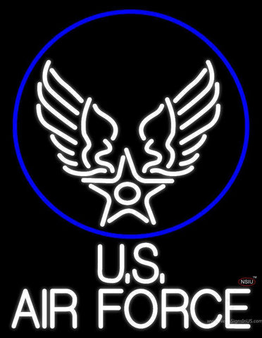 Us Air Force With Circle Handmade Art Neon Sign