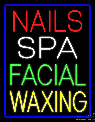 Nails Spa Facial Waxing Real Neon Glass Tube Neon Sign