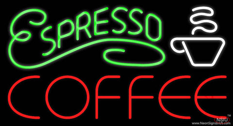 Espresso Coffee Real Neon Glass Tube Neon Sign