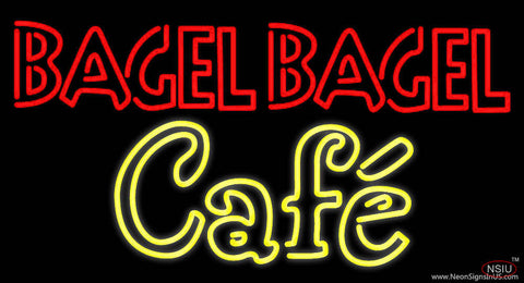 Bagel Bagel Cafe Real Neon Glass Tube Neon Sign