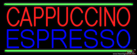 Blue Cappuccino Espresso Real Neon Glass Tube Neon Sign