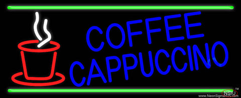 Blue Coffee Cappuccino Real Neon Glass Tube Neon Sign
