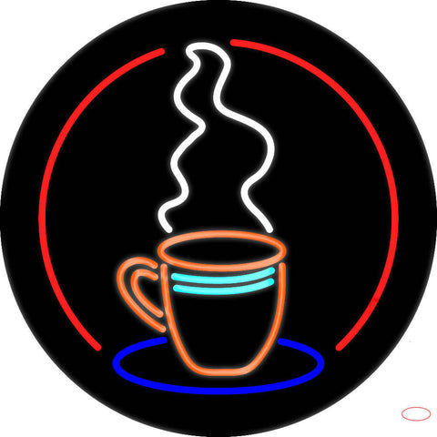 Coffee Cup Real Neon Glass Tube Neon Sign