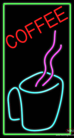 Coffee Cup With Pink Steam Real Neon Glass Tube Neon Sign