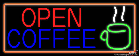 Coffee Open Real Neon Glass Tube Neon Sign