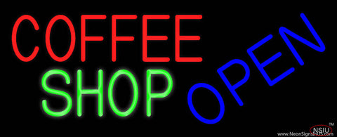 Coffee Shop Open Real Neon Glass Tube Neon Sign