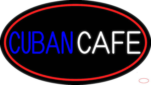 Cuban Cafe Real Neon Glass Tube Neon Sign