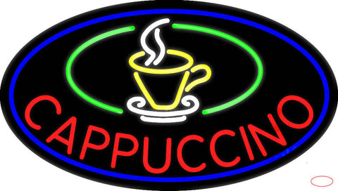 Cup Cappuccino Real Neon Glass Tube Neon Sign