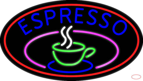 Espresso Coffee Cup Real Neon Glass Tube Neon Sign