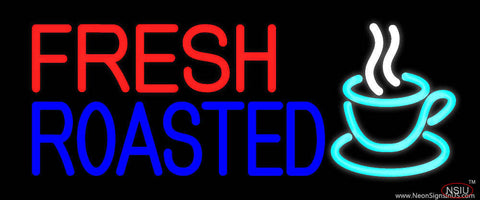 Fresh Roasted Coffee Real Neon Glass Tube Neon Sign