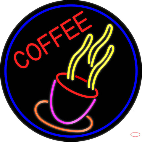 Pink Coffee Cup Real Neon Glass Tube Neon Sign
