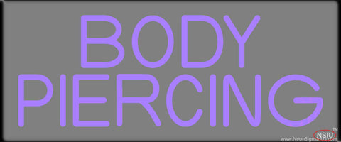 Purple Body Piercing Real Neon Glass Tube Neon Sign