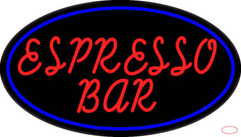 Red Espresso Bar Real Neon Glass Tube Neon Sign