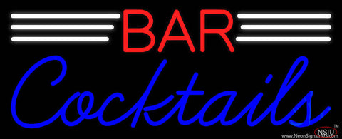Bar Cocktails Real Neon Glass Tube Neon Sign