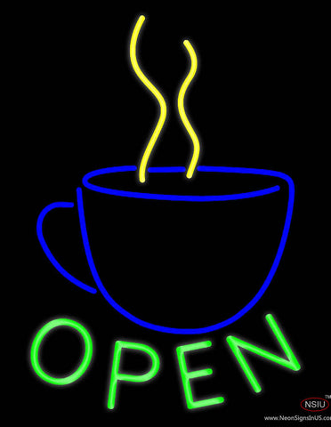 Open Coffee Real Neon Glass Tube Neon Sign