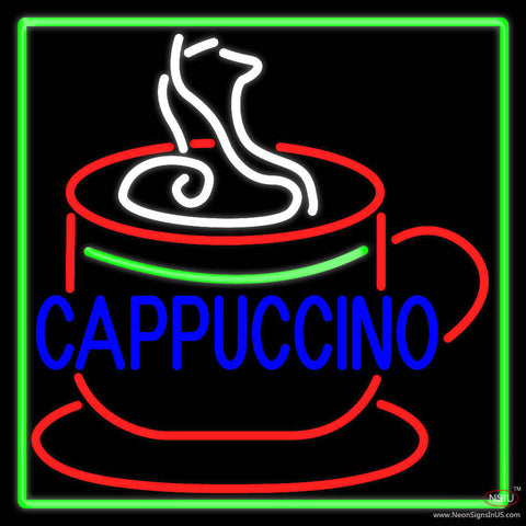 Cappuccino Inside Cup Real Neon Glass Tube Neon Sign