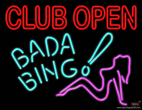 Club Open Bada Bing Real Neon Glass Tube Neon Sign