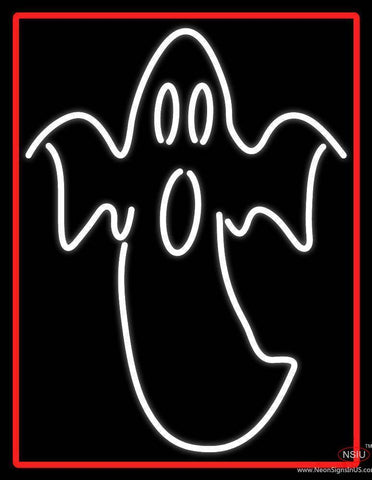 Ghost With Red Border Real Neon Glass Tube Neon Sign