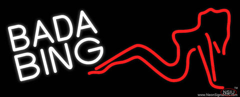 White Bada Bing Girl Real Neon Glass Tube Neon Sign