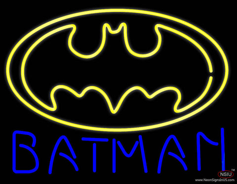 Batman Logo Real Neon Glass Tube Neon Sign