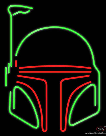 Boba Fett Helmet Star Wars Real Neon Glass Tube Neon Sign