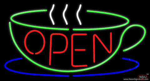 Open Cup Real Neon Glass Tube Neon Sign