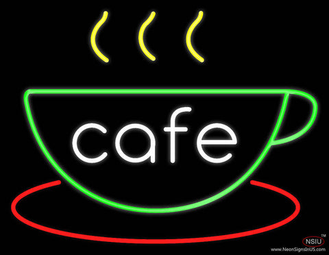 Cafe Cup Real Neon Glass Tube Neon Sign