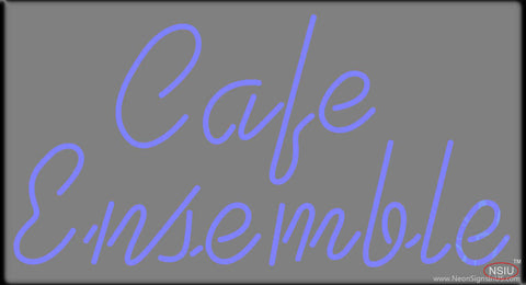 Cafe Ensemble Real Neon Glass Tube Neon Sign