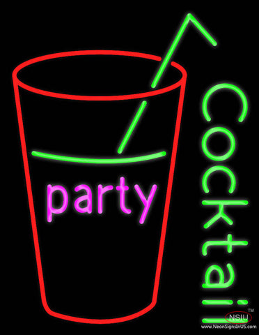 Party Cock Tail Real Neon Glass Tube Neon Sign