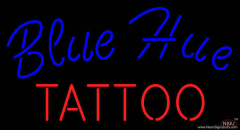 Blue Hue Tattoo Real Neon Glass Tube Neon Sign