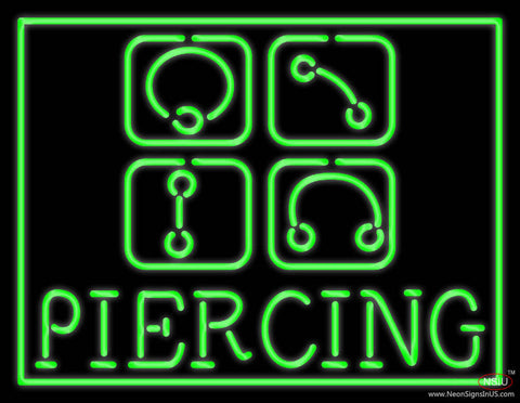Piercing Real Neon Glass Tube Neon Sign