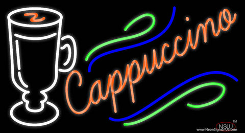 Cappuccino Cup Real Neon Glass Tube Neon Sign