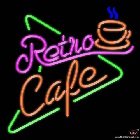 Retro Cafe Real Neon Glass Tube Neon Sign
