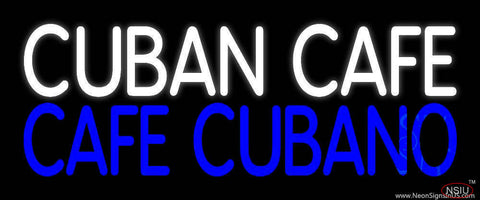 Cuban Cafe Block Real Neon Glass Tube Neon Sign