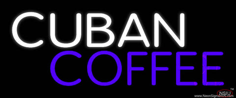 Cuban Coffee Real Neon Glass Tube Neon Sign