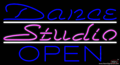 Dance Studio Open Real Neon Glass Tube Neon Sign