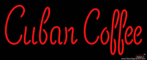 Red Cuban Coffee Real Neon Glass Tube Neon Sign