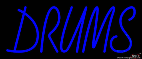 Drums Block  Real Neon Glass Tube Neon Sign