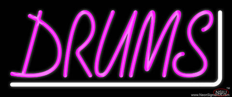 Pink Drums  Real Neon Glass Tube Neon Sign