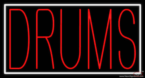 Red Drums Block  Real Neon Glass Tube Neon Sign