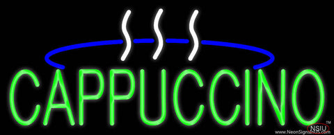 Green Cappuccino Logo Real Neon Glass Tube Neon Sign