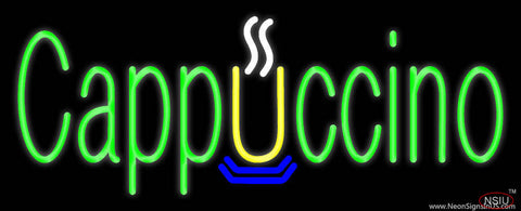 Green Cappuccino Real Neon Glass Tube Neon Sign